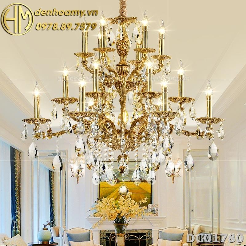 Đèn chùm đồng cao cấp trang trí biệt thự