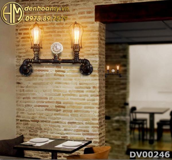 Đèn vách tường trang trí quán cafe phong cách vintage